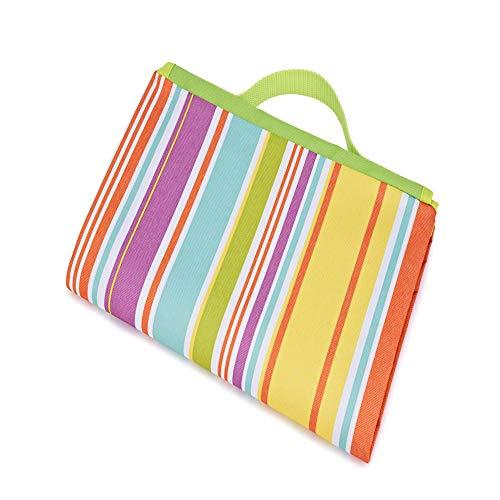 SONGHJ Polyester Picknickmatte Regenbogendruck wasserdichte feuchtigkeitsbeständige Picknickmatte Strandmatte
