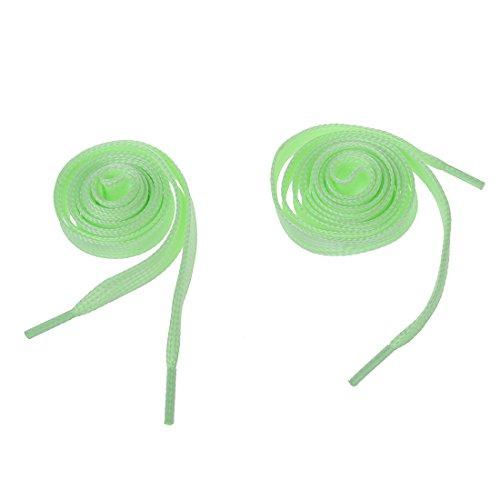 TOOGOO(R) Les lacets a LED Clignotant les lacets de chaussures ou les lacets de fluorescence - Accessoires de fete rave, Ordinaire, vert