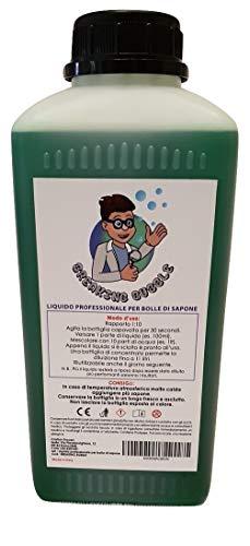 Breaking Bubble 11 litros de jabon para hacer pompas, Megaburbujas. 1 litro de concentrado hace 11 litros de solucion profesional. Ideal por Burbujas gigantes. Producto certificado