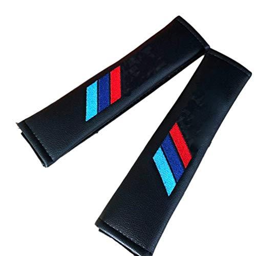 Para Bmw Performance M Logo E36 Fundas Cinturones Seguridad AutomóViles,Almohadillas Cuero Fibra Carbono Cinturones Seguridad,Cubiertas Cinturones Seguridad,Almohadillas Hombros,Cinturones Seguridad