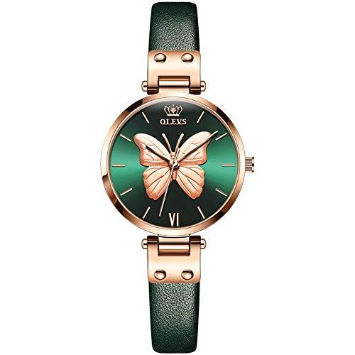 Allskid Mujer Relojes 3D En Relieve Mariposa Dial Cuero de la PU Correa Relojes de Pulsera