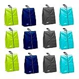 Lify Shoe Storage Organizer Bags Set, Waterproof Nylon Fabric with Sturdy Zipper for Traveling (12...