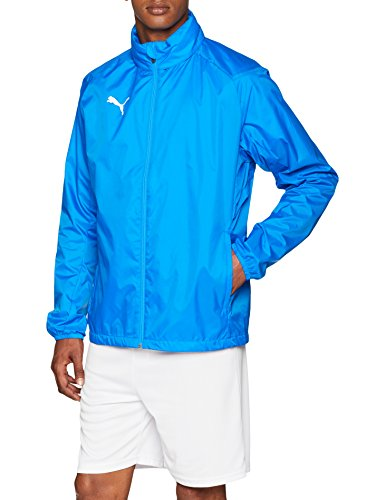 PUMA Herren Liga Training Rain Jacket Core, Electric Blue Lemonade White, M