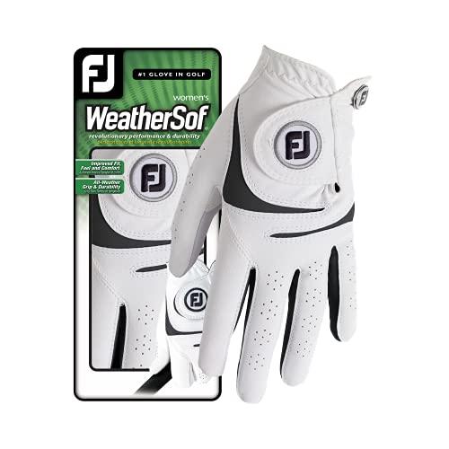 Footjoy WeatherSof Golfhandschuhe für Damen, weiß, M