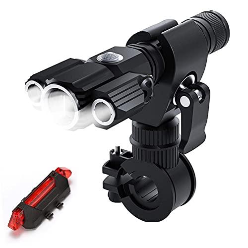 Fahrradlicht LED Set, Fahrradleuchtenset, LED Fahrradlicht mit Rücklicht, USB Aufladbar Fahrradbeleuchtung, IPX5 Wasserdicht Fahrradlicht Vorne Frontlicht& Rücklicht Set