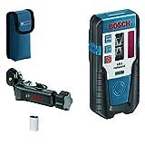 Bosch Professional Receptor láser LR 1 (haz láser rojo, 1 batería de 9V, montura, alcance 0–200m)