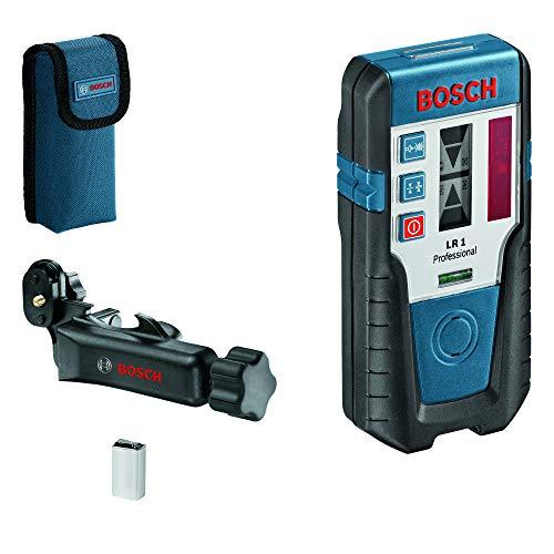 Bosch Professional Laser-Empfänger LR 1 (roter Strahl, 1x 9-V-Batterie, Halterung, Reichweite: 0–200 m)