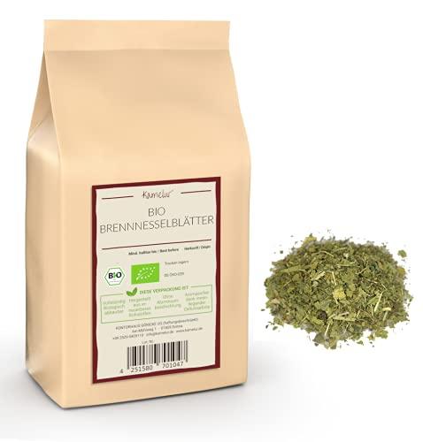 125g de feuilles d'ortie BIO séchées et coupées pour la tisane d'ortie BIO - tisane d'ortie de haute qualité sans additifs - Ortie BIO en emballage biodégradable