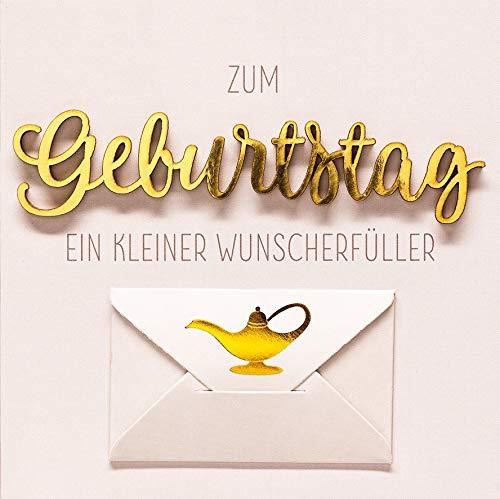 Geldkarte Geburtstag Lettering - ein Wunscherfüller - 15 x 15 cm