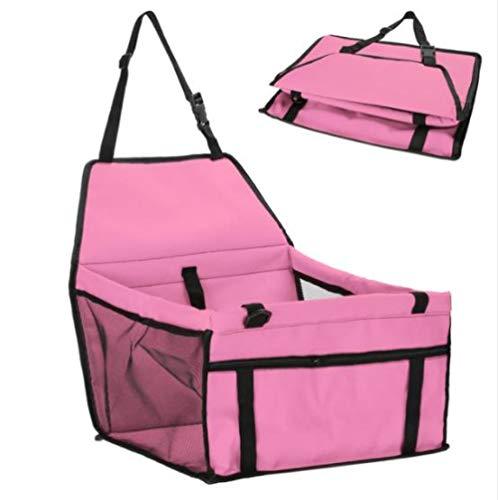 SHYSBV Huisdier hond drager autostoel veilig dragen huis kat puppy tas auto reizen accessoires waterdichte hond zitzak huisdier benodigdheden, 45X30X25cm, roze