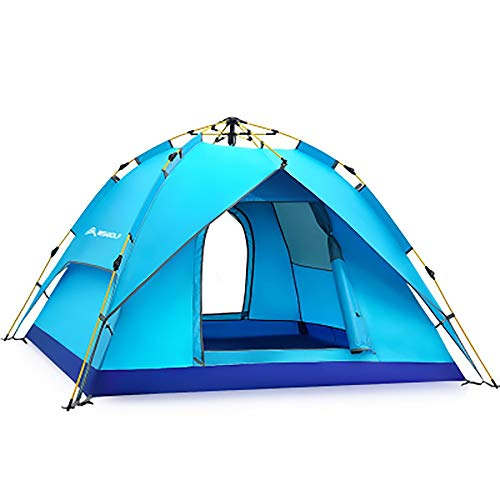WER Outdoor Camping Tent Family Durable Waterproof Automatic Tent Double Deck Self-Driving Tour Park Camping 2/3 Person
