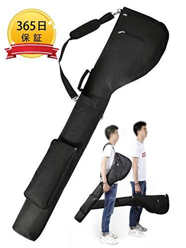 ゴルフ クラブケース 10本以上 収納 大容量 軽量 折りたたみ 3つポケット ゴルフバッグ