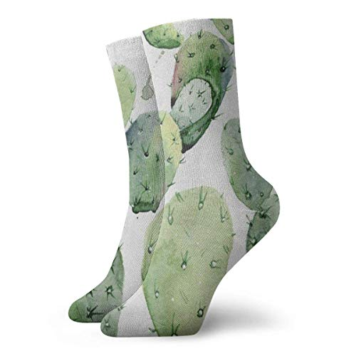 Men's Women's Crew Socks Watercolour World Map Athletic Socks Personalised Antibacterial Odour Cushion Short Boot Stocking