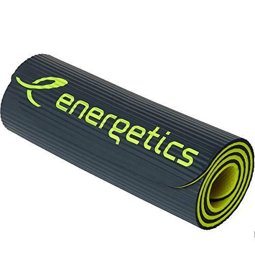 ENERGETICS Unisex– Erwachsene Gymnastik-Matte-183003 Gymnastik-Matte, Grey/Yellow, 183x58cm