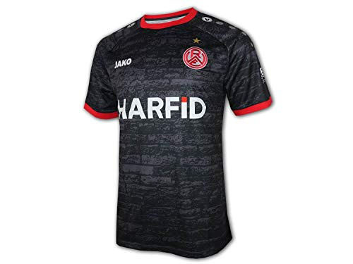 JAKO Rot Weiß Essen Auswärts Trikot 20 21 schwarz RWE Away Shirt Fan Jersey, Größe:M