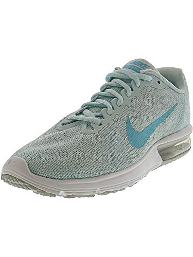 Nike Women's Air Max Sequent 2 Pure Platinum/Polarized Blue Ankle-High Running Shoe - 7.5M