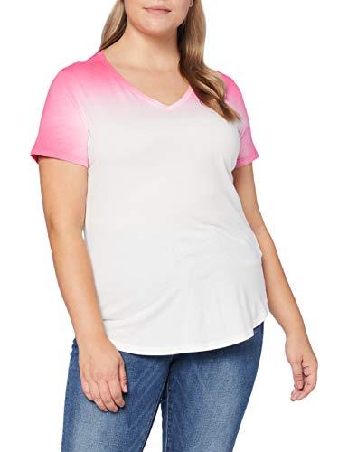 G-STAR RAW Damen Mysid Dip Slim T-Shirt, Rosa (Bright Rebel Pink B059-B421), X-Small (Herstellergröße: XS)