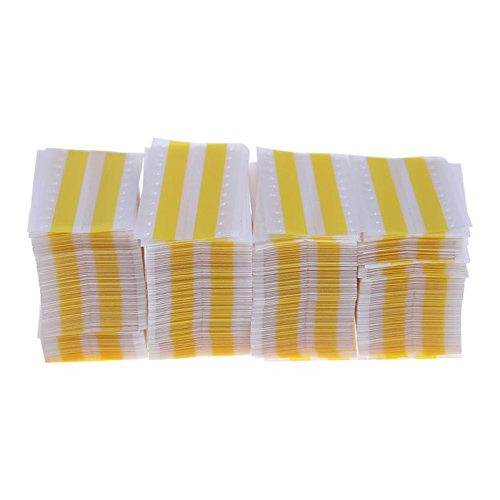 BUPADEALER 500PCS/LOT 8mm SMT Double Face Rectangular Splice Tape Film Joining Splicing Tape Using Rest Components Exact in the Raster Yellow