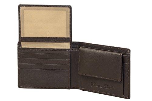 Sakkas Mens Authentische Leder-Zweifach-Brieftasche mit 2 versteckten Taschen, 2 Id Windows und 4 Kreditkartenfächern - Braun