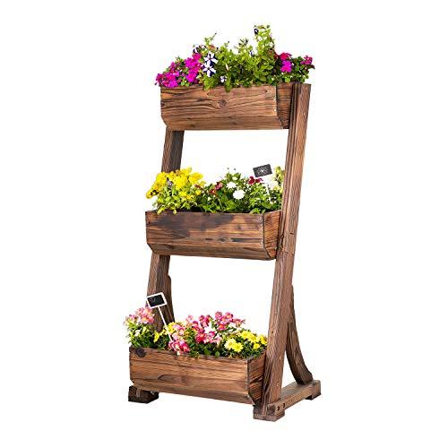 empasa Vertikales Hochbeet 'Raise 3' Blumenkasten Pflanzkübel Frühbeet Kräuterbeet