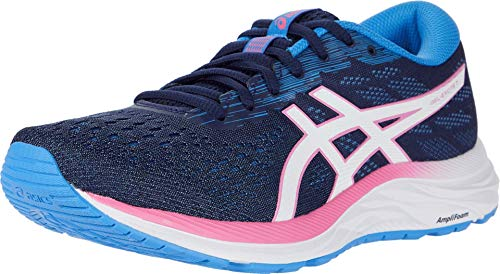 Asics Gel-Excite 7 Sneaker für Damen, Blau - Einkaufstrolley, Weiß. - Größe: 40 EU