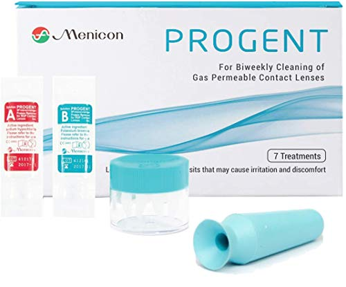 Menicon Progent 7 Treatment Biweekly Gas Permeable Contact Lens Cleaner and DMV Scleral Lens Remover Inserter, Bundle of 2 Items