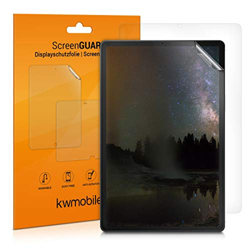 kwmobile 2x Screen Protector Compatible with Samsung Galaxy Tab A 10.1 (2019) - Clear Anti-Scratch Display Film for Tablet Screen - Set of 2