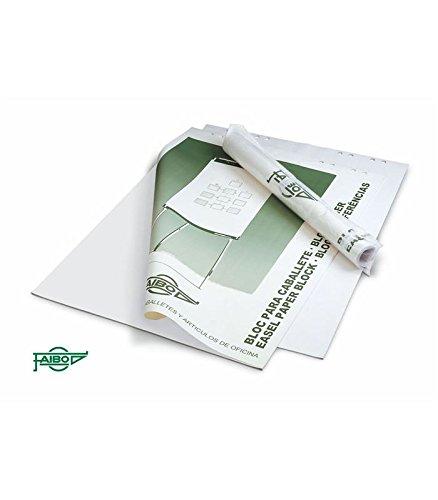 Faibo BLC-50B - Bloc de notas para pizarra, liso, 50 hojas