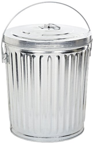 tin garbage can with lid - 5