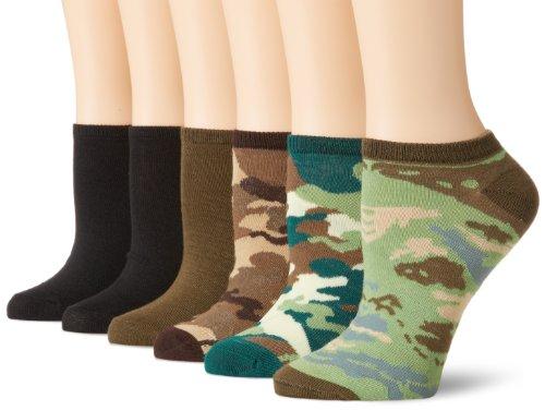 K. Bell Socks Damen Casual Sock 6er Pack Gr. Medium, camouflage