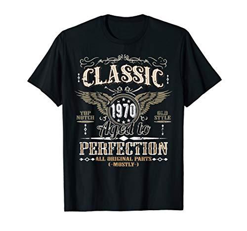 50 Geburtstag T-Shirt Mann, Jahrgang 1970, Vintage Retro T-Shirt