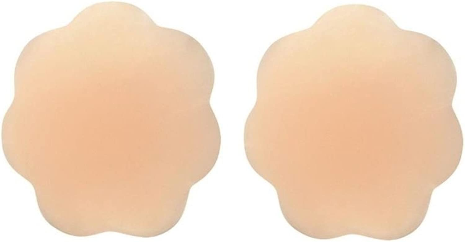 Large Women Nipple reusable adhesive silicone cover go braless with confidence. Flower shape.
