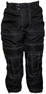 Bikers Gear Australia Kid's Waterproof Textile Motorcycle Pants with Removable CE Armour Black