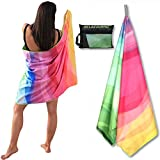 BELAZZURRO Microfiber Quick Dry Towel for Swimmers, Best Beach Towels for Travel, S