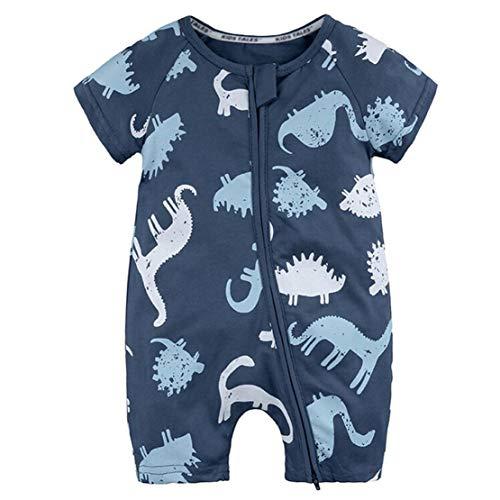 mama stadt Baby Baumwolle Sommer Schlafanzug Bekleidung, Mädchen und Junge Kurzer Overall Jumpsuit Drucken Spielanzug 3-36 Monate