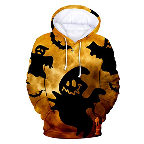 Why Should You Buy Sweatshirt,Mens Casual Scary Halloween Lover 3D Print Party Long Sleeve Hoodie To...