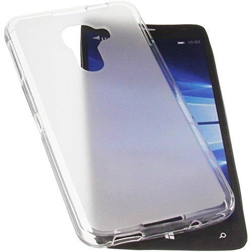 foto-kontor Tasche für Alcatel One Touch Idol 4 Pro Gummi TPU Schutz Handytasche transparent weiß