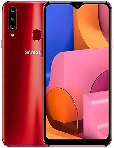 Samsung Galaxy A20S w/Triple Cameras (32GB, 3GB RAM) 6.5' Display, Snapdragon 450, 4000mAh Battery, US & Global 4G LTE GSM Unlocked A207M/DS - International Model (Red, 32GB + 64GB SD Bundle)