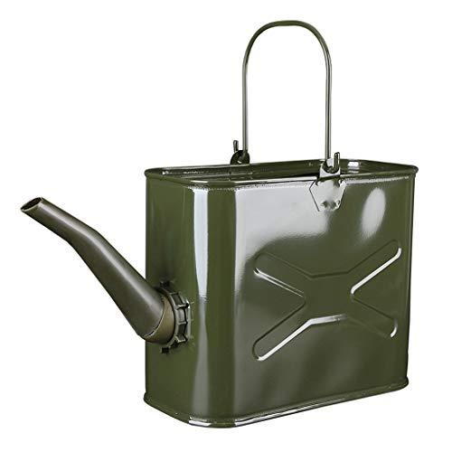 Benzintank 14/15 Liter Qualität Jerry Can Grün Metall Tragbarer Kraftstofftank Wasserbehälter Kraftstofftank (Größe : 14 Litre)