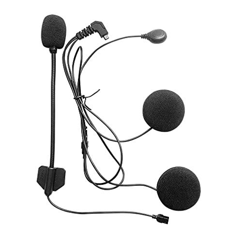 FreedConn Auriculares Para Casco Moto Micrófono Altavoz blando cable de los auriculares...
