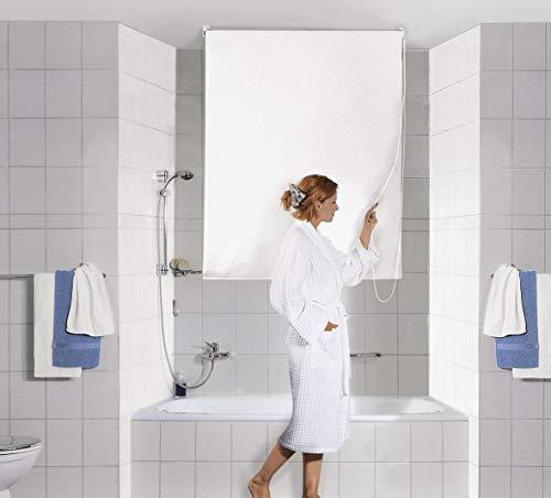 Kleine Wolke 3316100744 DV-Rollo Duschrollo, 140 x 240 cm, weiß