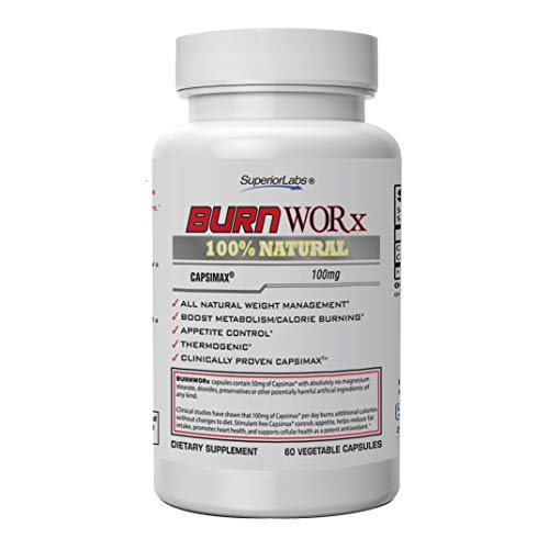Superior Labs – Burn Worx - All-Natural Weight Management Supplement Helps Boost Metabolism, Supports Calorie Burning While Enhancing Energy Levels - Metabolic Enhancer with Capsimax®