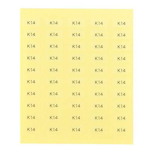 台紙用シール 10×5mm 日本製 アクセサリー台紙用 (K14・透明, 250枚)