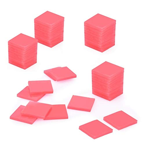 Rolin Roly 100 Piezas Arcilla Roja de Pegamento de Pintura de Diamante DIY Diamond Painting Accesorios 2 x 2 cm (100Piezas)