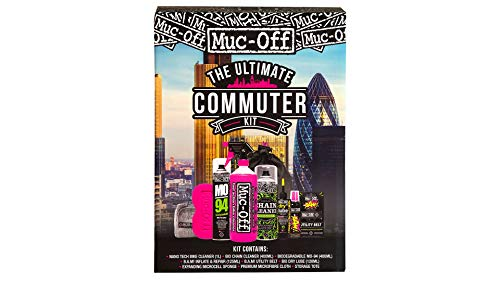 Muc-Off Ultimate Commuter Kit - Essentials To Maintain Your Bike And Protect From Punctures - Includes Bike Cleaner And B.A.M! Instant Puncture Repair