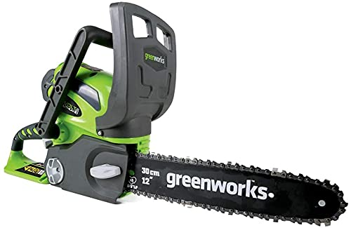 GreenWorks 40V 12-Inch Cordless Chainsaw, Tool Only, 20292