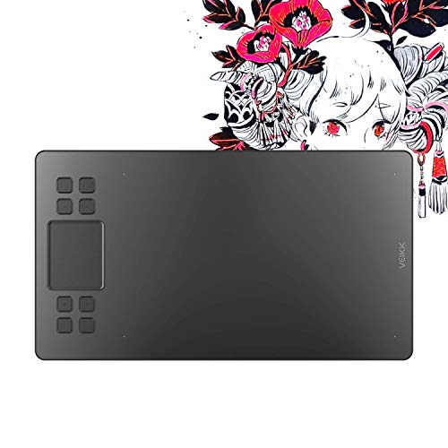 VEIKK A50 Graphics Drawing Tablet with 8192 Pressure Sensitivity (Battery-Free Passive Pen)