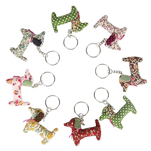 Sass And Belle Dali Dachshund Sausage Dog Vintage Fabric Keyring-one Supplied