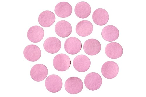 """Pink Adhesive Felt Circles, 1.5"""" Wide, Package of 48x, Die Cut Felt Stickers Ready to use for DIY Projects & Crafts"""