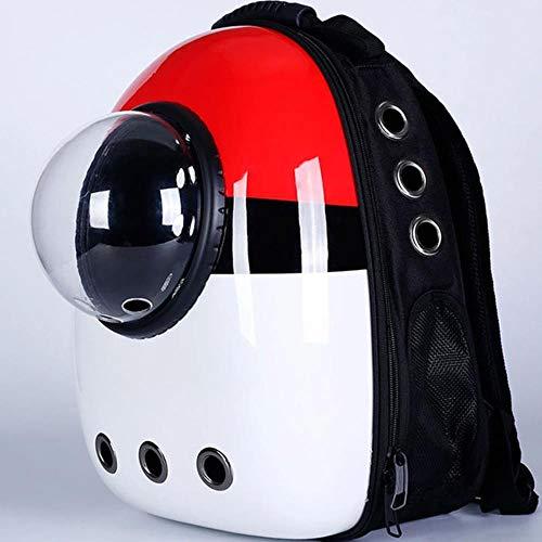 Unbekannt Tierträger Rucksäcke Handtaschen Fenster Mit Atmungsaktiver Reisetasche Bubble Astronaut Haustier Hund Raumkapsel Katzenträger Rucksack Für Kleine Katzen Hund, Red Pokemon, M